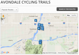 avondale, bike, bicycle, trails, rides, routes, az, arizona, rentals,