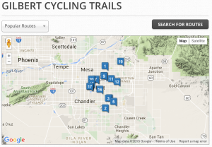gilbert, bike, bicycle, trails, rides, routes, az, arizona, rentals,