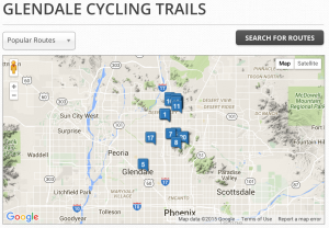 glendale, bike, bicycle, trails, rides, routes, az, arizona, rentals,