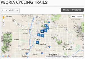 peoria, bike, bicycle, trails, rides, routes, az, arizona, rentals,