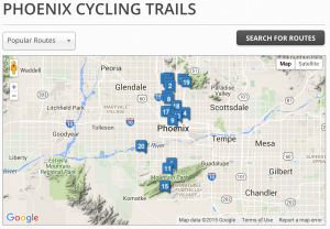 phoenix, bike, bicycle, trails, rides, routes, az, arizona, rentals,