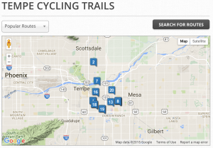 tempe, bike, bicycle, trails, rides, routes, az, arizona, rentals,